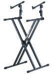 QuikLok QL-642 2-Tier X-Braced Keyboard Stand