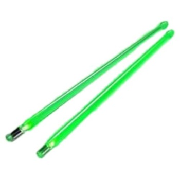 Grover FX12GR Firestix Light-up Drumsticks, Screamin' Green