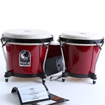 2100RR Toca Synergy Wood Bongos, Red