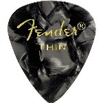 0980351743 Fender Moto Pick Thin 12/pk -Black