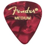 Fender 1980351809 12 Medium Picks - Red Moto