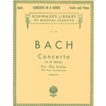 Bach Concerto in A Minor for Violin and Piano