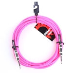 Dimarzio 18' Fabric Cable - Neon Pink