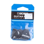 BPK-12-BM Boss Celluloid Pick - Medium Black - 12/Pack