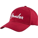 9106002606 Fender Logo Stretch Cap, Red