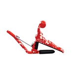 Kyser Hawaiian-Themed Capo - Red Hibiscus