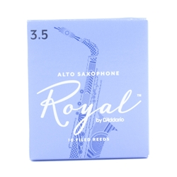 D'addario RJB1035 Rico Royal Alto Sax Reeds 3 5 - Single Reed