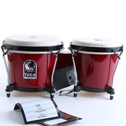 Toca Synergy Wood Bongos, Red