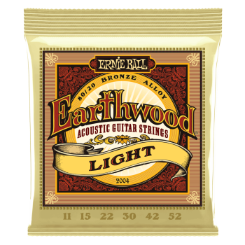 2004 Ernie Ball Earthwood Light 80/20 Bronze Acoustic Guitar Strings - 11-52 Gauge