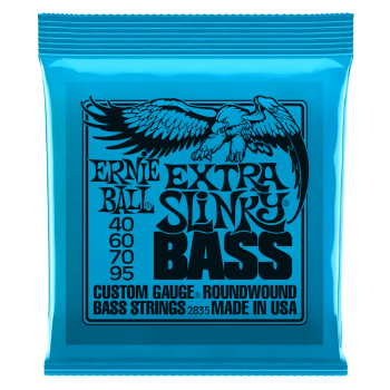 2835 Ernie Ball Extra Slinky Nickel Wound Electric Bass Strings - 40-95 Gauge