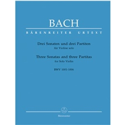 Bach Three Sonatas and Three Partitas for Solo Violin