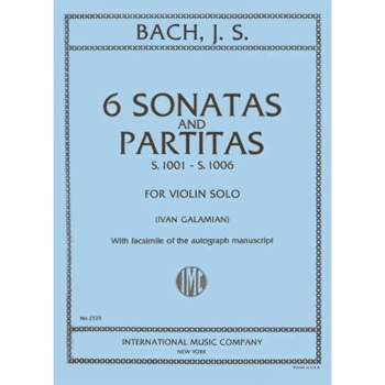 Bach 6 Sonatas and Partitas for Violin Solo