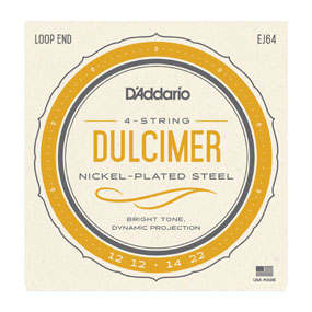 D'Addario EJ64 Mtn Dulcimer Set - Loop end