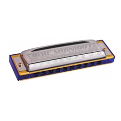 595/20A Hohner Blue Midnight Harmonica - A