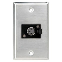 CBIWP1-1F CBI Wallplate XLRF Single