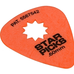 Everly .60 Star Pick - Orange (12 pack)