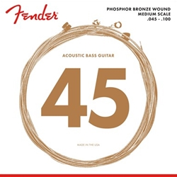 Fender 7060 Acoustic Bass Strings, Phosphor Bronze, .45-.100