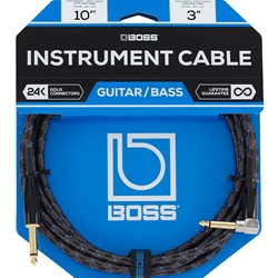 Boss 10ft Instrument Cable - 1/4 Straight Ends