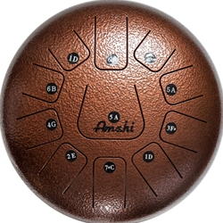"Amahi Tongue Drum - 12""  Bronze"